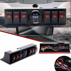 6 Switch Panel with Control and Source System Relay Box Jeep