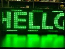 Wifi Programmable Led Sign 40x15 Green Scrolling Message Board