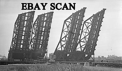 ORIG NEG Boston & Maine Charles River drawbridges in 1938 Original 2 ½ X 4 ¼