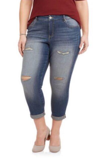 a6d6c76e10a0f Faded Glory Women s Plus Medium Wash BOYFRIEND Jeans Size 24w for ...