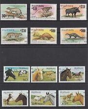 2 komplette Sätze Pferde und Wilde Tiere Phillipinen , pilipinas