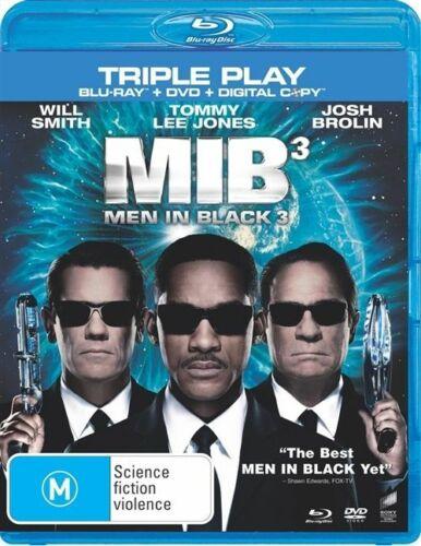 1 of 1 - Men In Black 3 (Blu-ray DVD DIGITAL, 2012, 3-Disc Set) TRIPLE PLAY NEW & SEALED