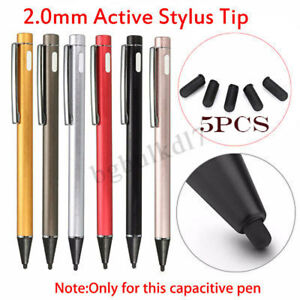 2-0mm-Tip-Active-Stylus-for-iPad-2-Samsung-Capacitive-Screen-Touch-Pen-Caps-Nib