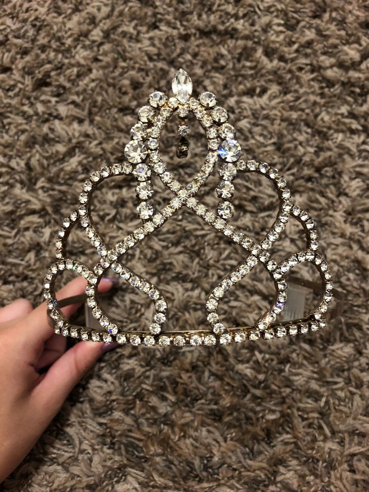 Sliver Hair Piece Pageant Crown