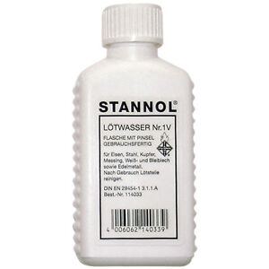 Stannol-114033-Lotwasser-50ml-Plastique-Bouteille-Liquide-Soudure-Flux