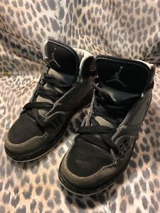 the latest 96eba 4717c Image is loading Nike-Jordan-1-Flight-374452-002-Black-Grey-