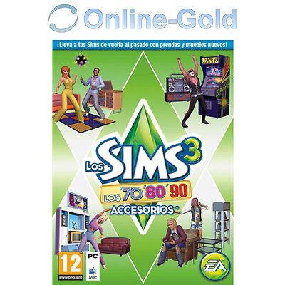 Los Sims 3 LOS '70 '80 '90 Accesorios Origin juegos PC/MAC [ES][EU][Nuevo]
