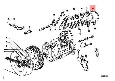 Genuine BMW E39 E46 Sedan Wagon Fuel Injection Pipe OEM 13532247300
