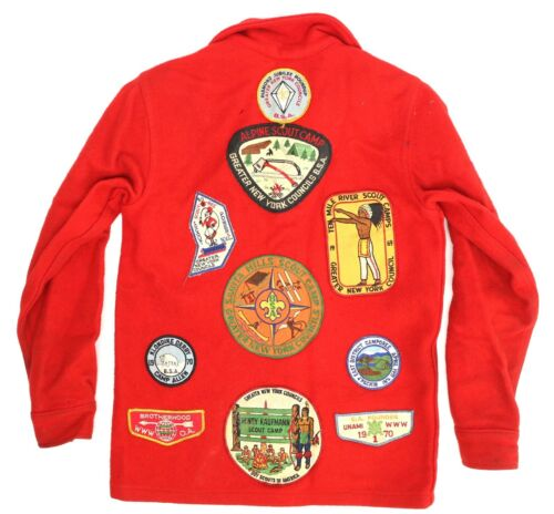 VTG 1960s-70s Boy Scout Jacket w/ 16 Patches Queen