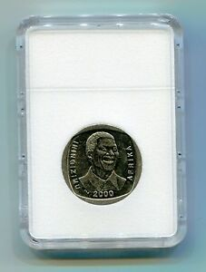 Nelson-Mandela-Madiba-South-Africa-R5-Year-2000-Smiley-Coin-in-Display-Slab
