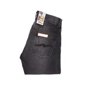 Nudie-Jeans-Grim-Tim-Concrete-Black-Dunkelgrau-Bio-Baumwolle-113013-Neu