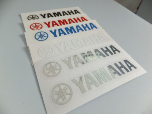 Yamaha Vinyl Sticker Decal 80mm 8cm Chrome Black Red Blue