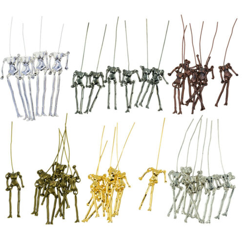 34 Sets Human Skeleton Body DIY Dolls Pendants Jewelry Making Charms Crafts