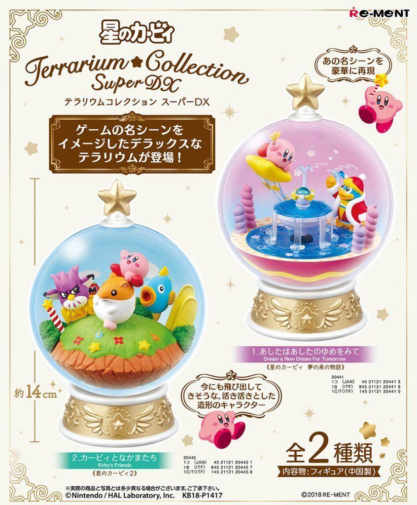 Re-ment Miniatura Kirby Star Terrario Colección Super Dx Completo Conjunto de 2 piezas