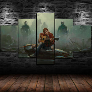 Framed The Last Of Us 2 Ellie Canvas Print Wall Art Home Decor 5 Piece Ebay