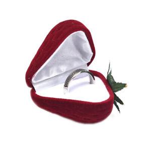 Velvet-Strawberry-Jewelry-Box-Wedding-Rings-Earrings-Display-Gifts-Box-Holder