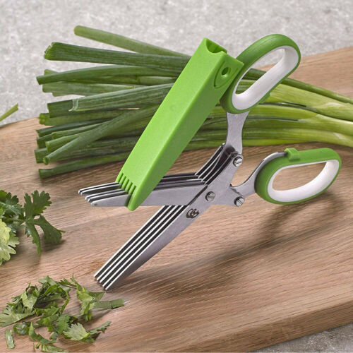 Ball 5-Blade Culinary Herb Multi-Purpose Kitchen Stainless Steel Shears Scissors