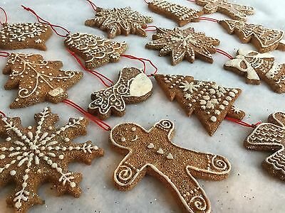 Gisela Graham Noël Résine Gingerbread Boy /& Girl Xmas Tree Décorations 9cm