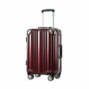 d339dd9f14f5 Coolife Luggage Aluminium Frame Suitcase TSA Lock 100 PC 20in