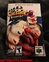 Clay Fighter: Sculptor's Cut (nintendo 64, N64) Custom Instruction Manual Only