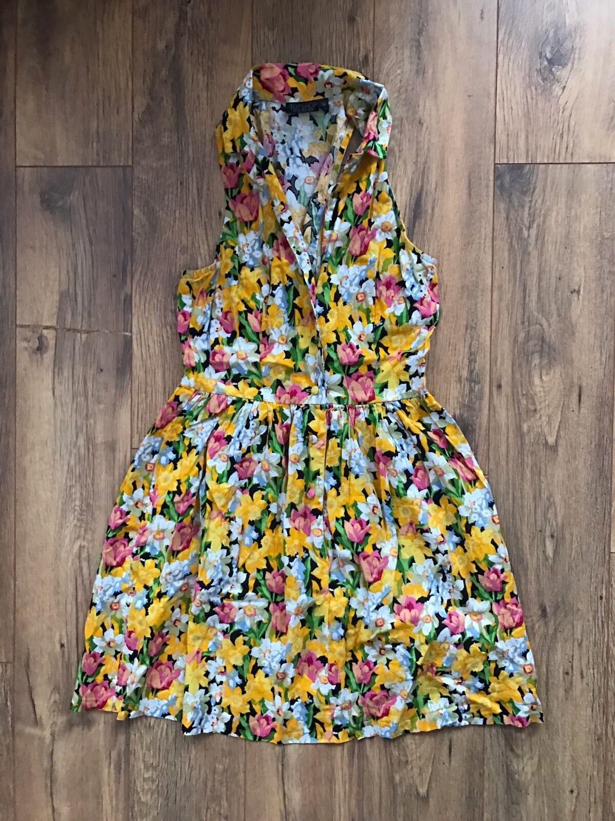 Topshop Floral Jumpsuit Size 10