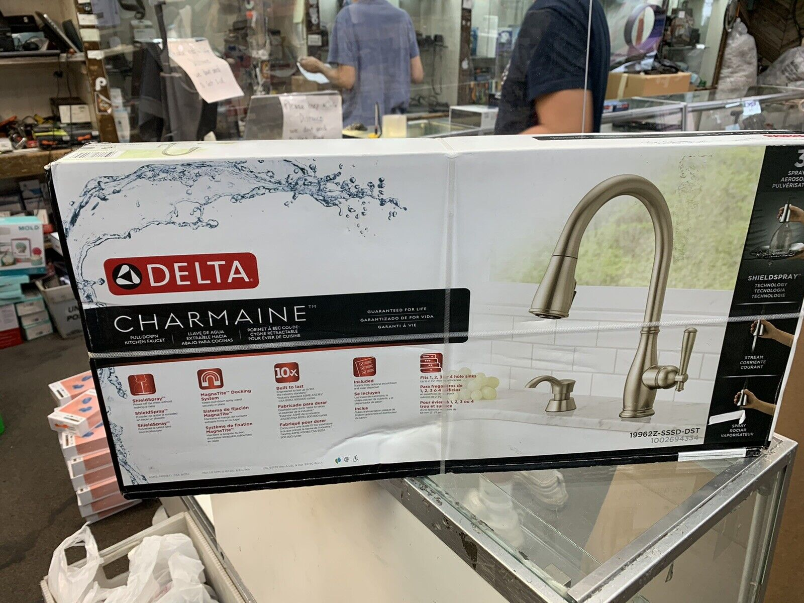 Delta Trask 19933 Sssd Dst Stainless Steel Pull Down Kitchen Faucet For Sale Online Ebay