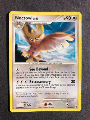 Noctowl 34//130 Rare Pokemon Card