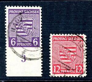 SBZ-Provinz-Sachsen-MiNr-69-X-B-a-71-B-Satz-gestempelt-geprueft-Jasch-XXX