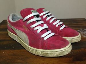 5ba71906648 Puma Red Suede Classic Low Top Pumps Training Shoes Trainers UK Size ...