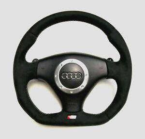 Volante-Audi-TT-3-2-V6-VR6-Nuevo-parte-inferior-plana-Alcantara-Mira
