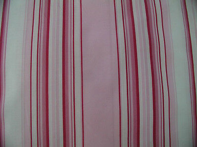 Pink, Raspberry. White Stripe Cotton- Co-ordinate to the Antique French Rose