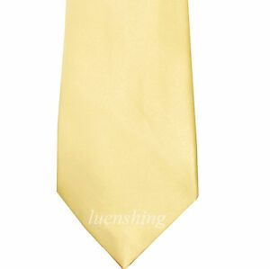 New Polyester Men's Neck Tie Shiny finish Cream Necktie only formal wedding prom