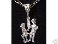 Twins Gemini Zodiac Astrology Sterling Silver 925 charn