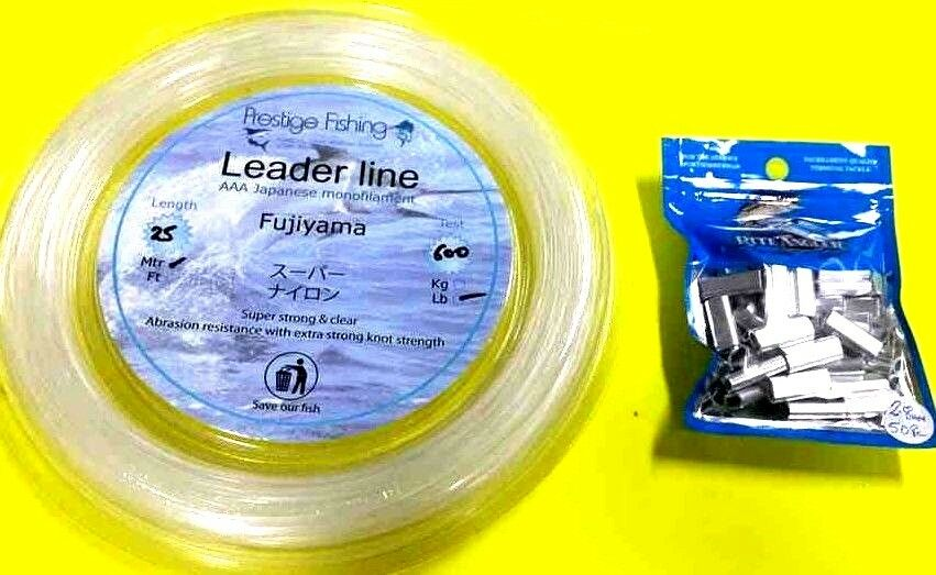 Fishing leader line 1 x 600lb   50 x 2.8mm x 18mm pk of rite angler Alum crimps