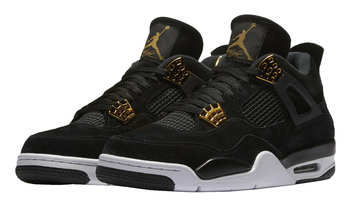 Nike Air Jordan 4 Retro Royalty (308497-032) Men's shoes - Black Metallic gold