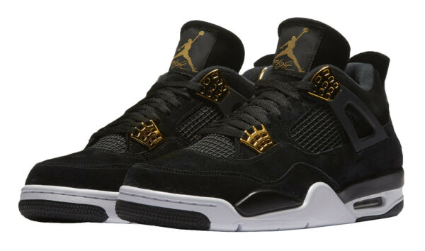 0983e6f3715 Nike Air Jordan 4 Retro Royalty (308497-032) Men s Shoes - Black Metallic  Gold White