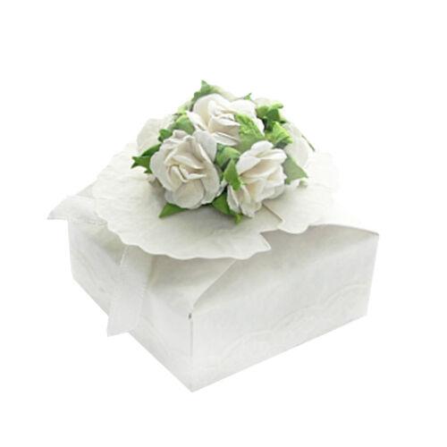 Geschenkbox Blüte Geschenkschachtel quadratisch Gastgeschenk Hochzeit