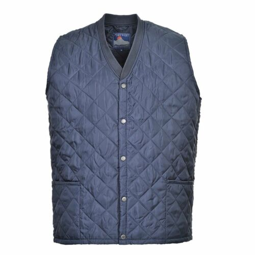 Kinross Quilted Bodywarmer Gilet Thermal Lined Padded NAVY BLUE Portwest S413