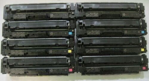 2 Sets EMPTY Virgin Genuine HP CF410A CF411A CF412A CF413A Toner Cartridges 410A