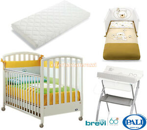 Set Tessile Materassino Evo Soft And Light Bagnetto Brevi Lindo Selfless Lettino Ciak Pali Bianco