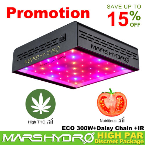 Mars Hydro TS 600W 1000W 2000W 3000W LED Grow Lights Full Spectrum Veg Bloom IR
