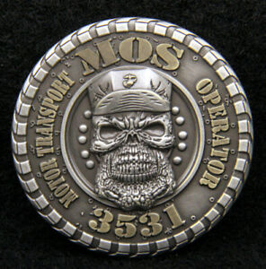 MOS-3531-MOTOR-TRANSPORT-OPERATOR-CHALLENGE-COIN-US-MARINES-PIN-UP-MOTOR-T-WOW