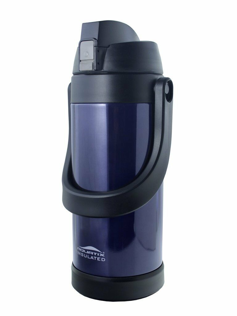 Aquatix Double Wall Insulated Steel Sport Thermos Bottle 68 ounce Midnight bluee