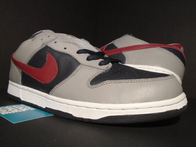 02 NIKE SB DUNK LOW PRO EUROPE COOL GREY TEAM RED ANTHRACITE WHITE 304714-061 12