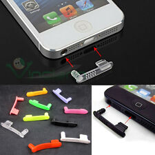 2in1 Tappo stopper anti polvere doppio connettore auricolari per iPhone 5 5S SE
