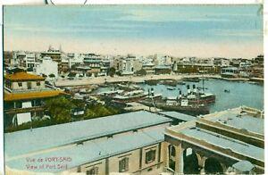 POSTCARD-EGYPT-PORT-SAID-View