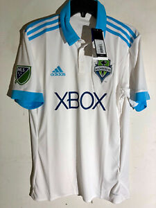 Adidas-Mls-Seattle-Sounders-Equipe-Blanc-Alt-Equipe-Jersey-Taille-XL