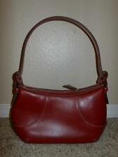 Cole Haan RED Leather Shaped Small Hobo Shoulder Bag