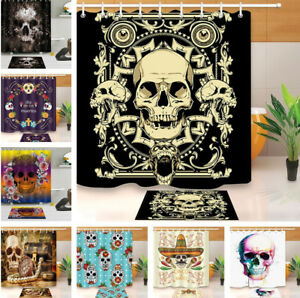 Image Is Loading Skull Day Of The Dead Shower Curtain Liner