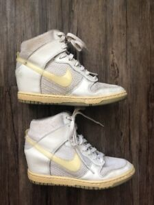 separation shoes 2a8e0 3e14d Details about NIKE Dunk Sky Hi High Essential White Wolf Grey Easter  644877-100 Wedge 7.5